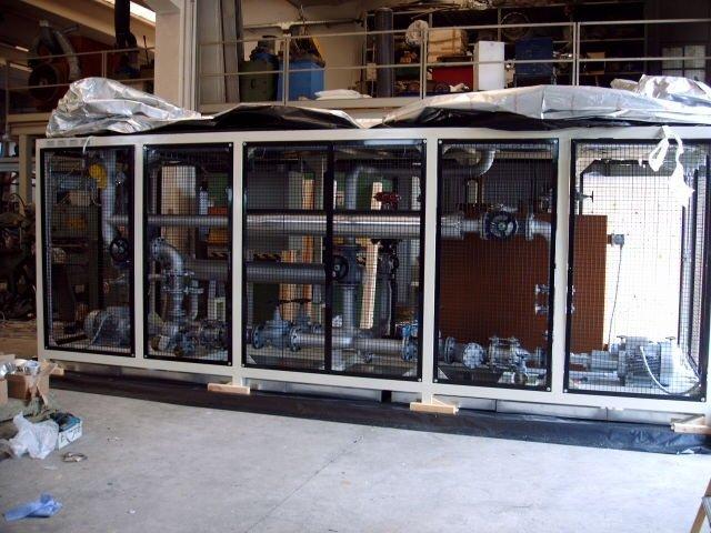 Centralina monoblocco per riscaldamento olio diatermico